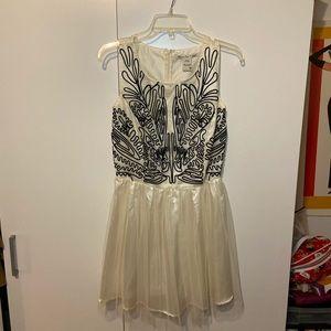 American Rag Juniors White with Black Dress